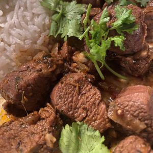 Nahaufnahme / Close-up Rogan Josh mit Reis